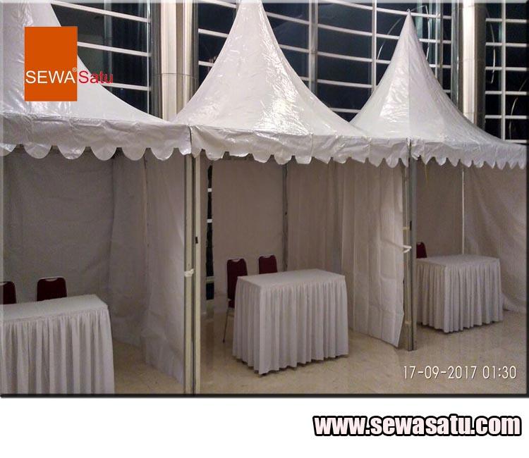 Perusahaan rental tenda kerucut murah berkualitas di Megamendung Bogor