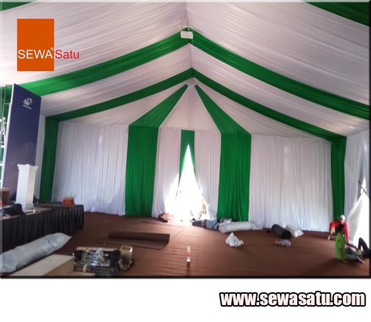 Perusahaan persewaan alat pesta menyediakan persewaan Tenda Roder mewah Berkualitas dengan dekorasi berkelas Paket hemat