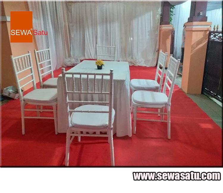 Promo Ramadhan Sewa Kursi Tiffany + Meja Kotak murah dan mewah