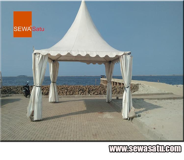 Perusahaan rental tenda kerucut murah berkualitas di jakarta timur